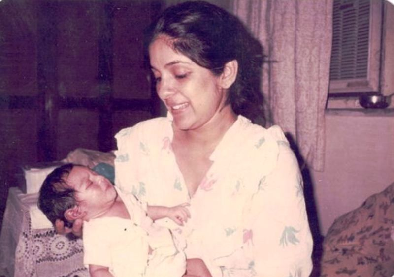 An Old Picture of Neena Gupta and Her Daughter