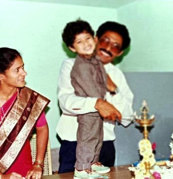 An Old Picture of Shine Shetty with His Parents