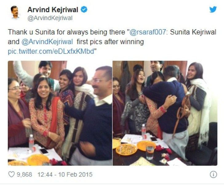 Arvind Kejriwal's Tweet on Winning