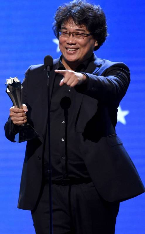 Bong Joon-ho during his Acceptance Speech at Critics' Choice Movie Awards