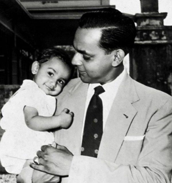 Childhood Picture of Wendell Rodricks with his Father