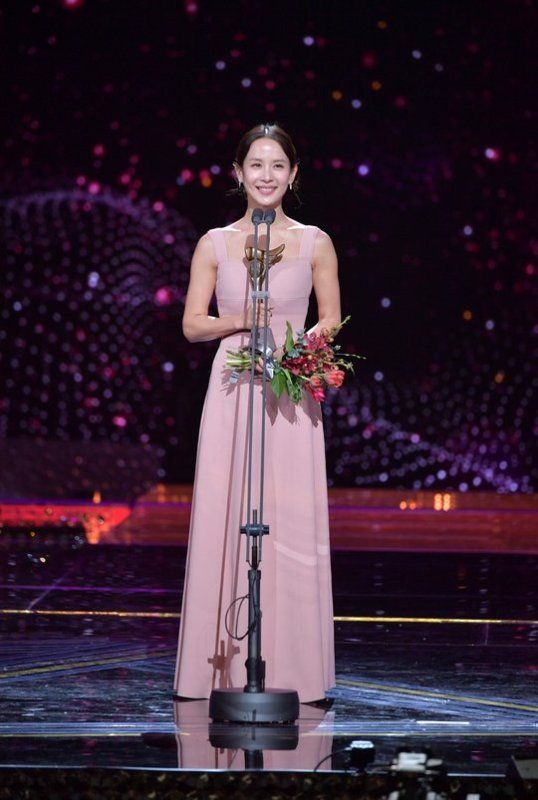 Cho Yeo-jeong Giving her Acceptance Speech at KBS Drama Awards