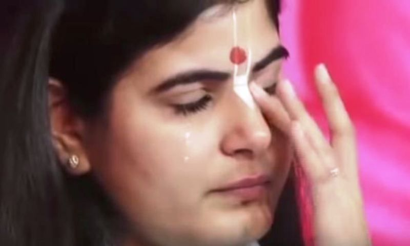 Devi Chitralekha Crying During Her Pravachan