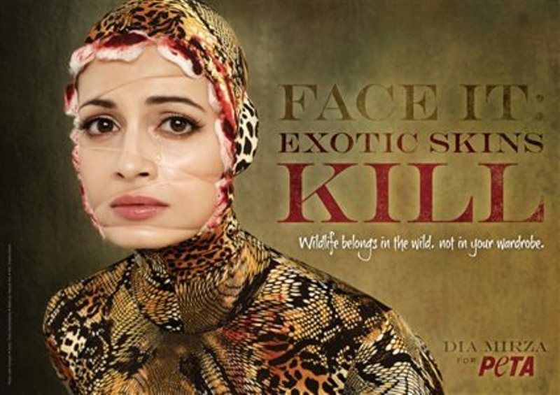 Dia Mirza in a Campaign by PETA