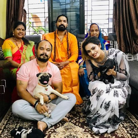 Drisha More with her family
