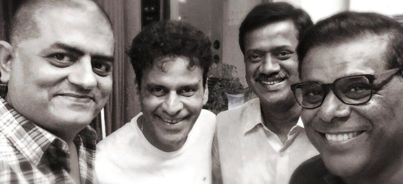 Gajraj Rao with Manoj Bajpai, Nikhil Verma, and Ashish Vidyarthi