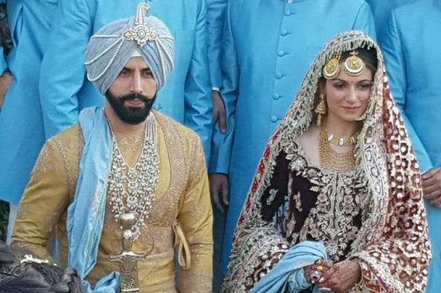 Gurickk G Maan's wedding picture
