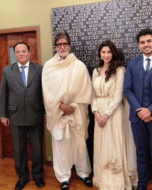 Harsh Nagar with His Father, Wife, and Amitabh Bachchan