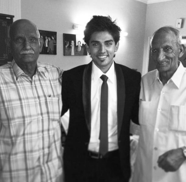 Harsh Nagar with His Grandfathers