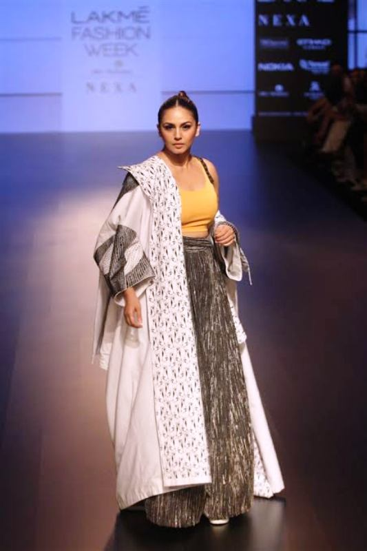 Huma Qureshi in the Lakme Fashion Week