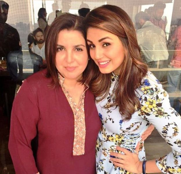 Huma Qureshi with Farah Khan