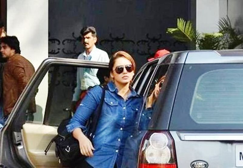 Huma Qureshi with Her Land Rover