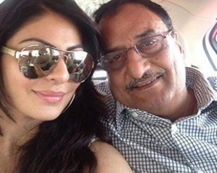 Neeru Bajwa with her Father