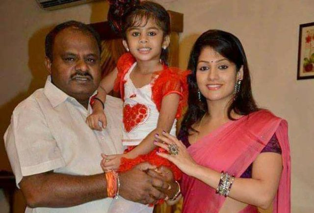 Nikhil Kumaraswamy's father, step-mother, and step-sister
