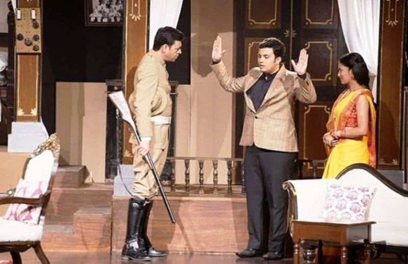 Prasad Jawade in a Theatre Play- Agnipankh