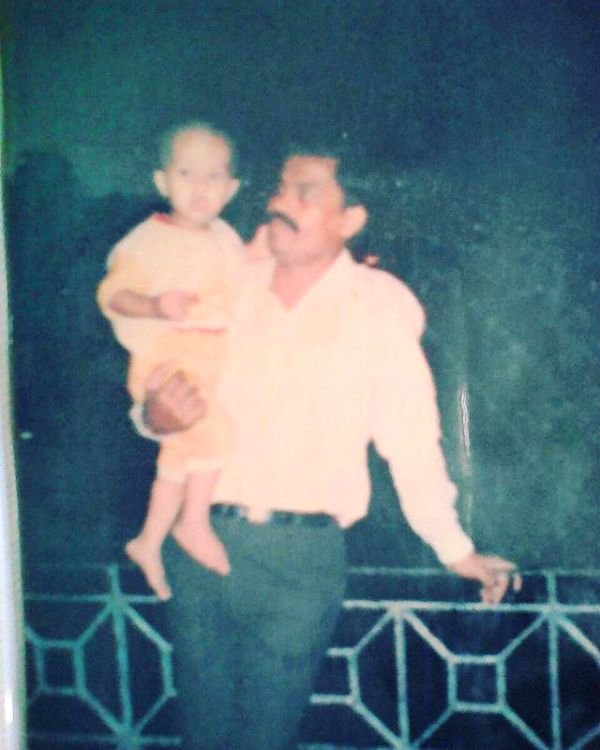 Prasad Jawade with His Father
