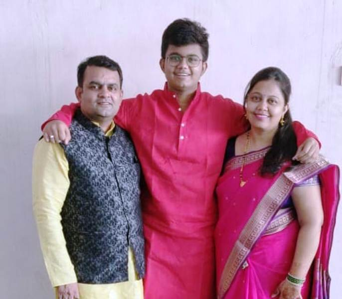 Prasad Jawade's Sister with Her Family