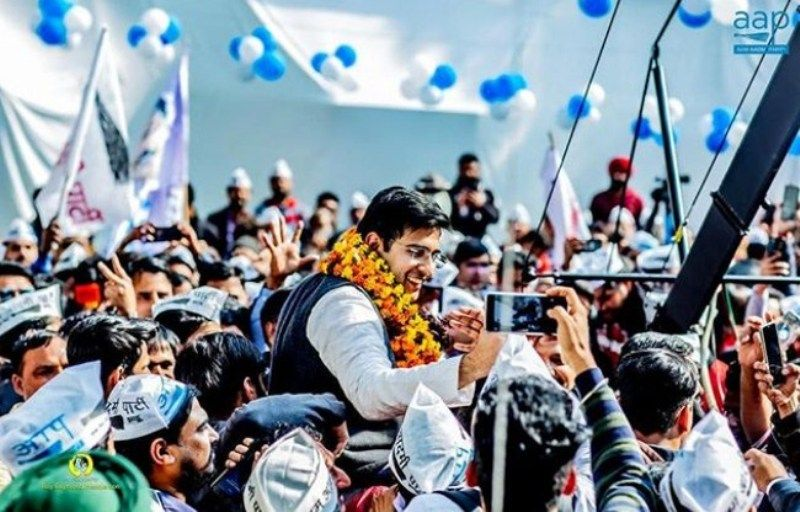 Raghav Chadha after his win in Delhi Elections