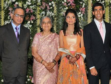 Rishi with in-laws