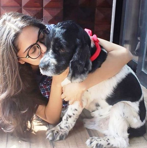 Sharvari Wagh with Her Pet Dog