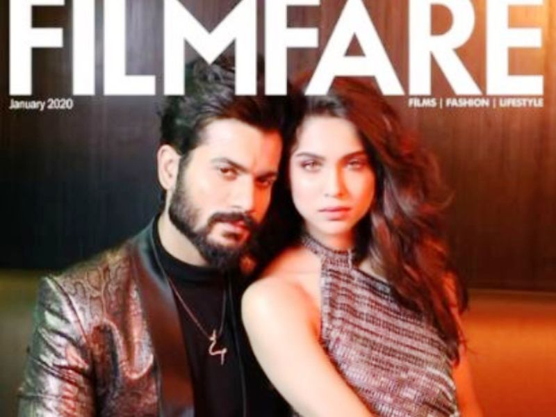 Sharvari Wagh with Sunny Kaushal on the Cover of Filmfare Magazine