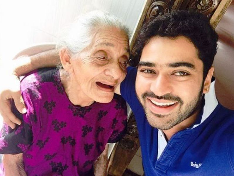 Shine Shetty with His Grandmother