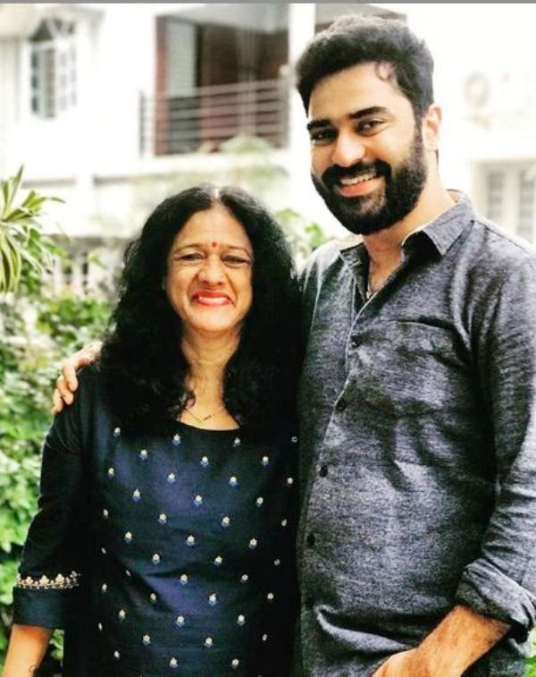 Shine Shetty with His Mother