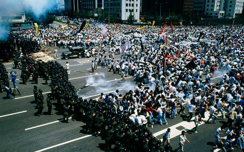 Students Demonstrations at South Korean Democracy Movement