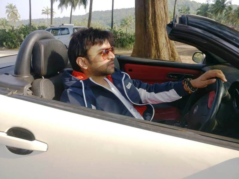 Vaibhav Saxena Riding a Car