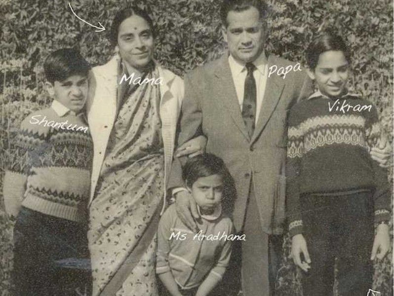 Vikram Seth with his Family