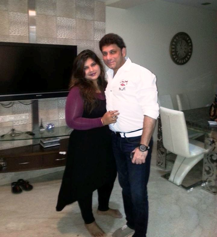 Waris Pathan with his wife