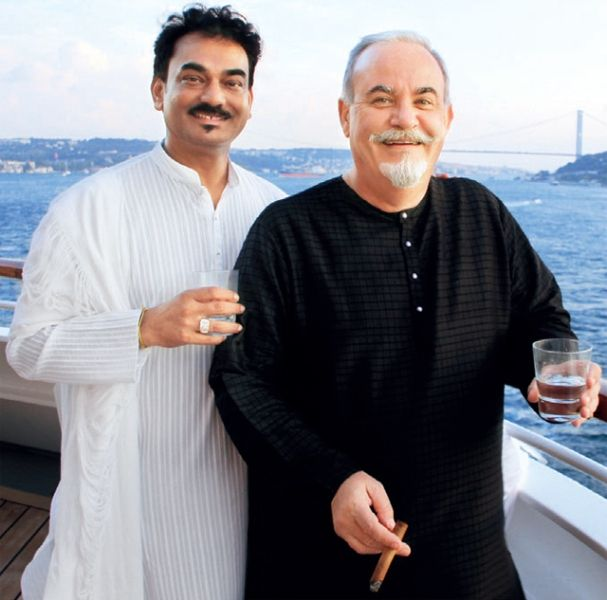Wendell Rodricks with his Husband