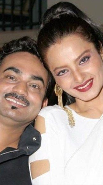 Wendell Rodricks with Rekha