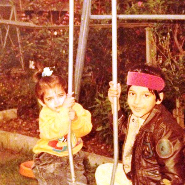 A Childhood Picture of Shruti Haasan