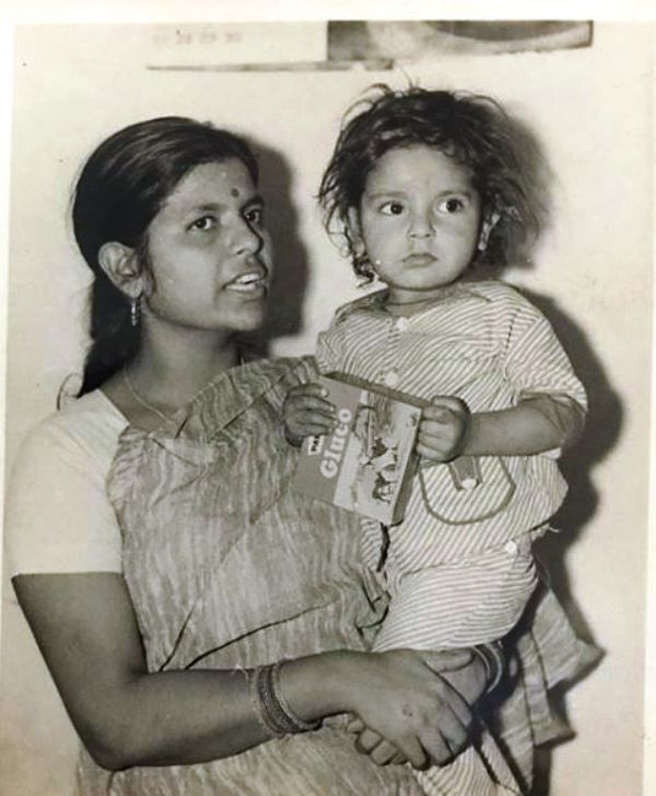 A Childhood Picture of Sumit Awasthi With His Mother
