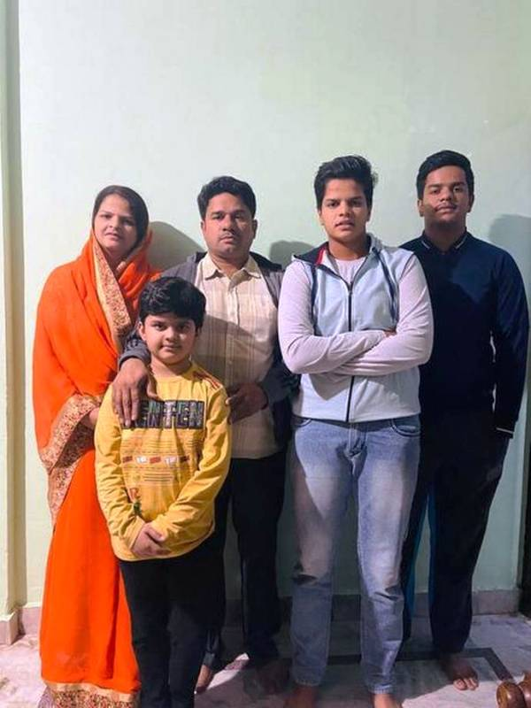 A family picture of Shafali