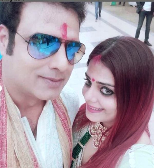 Abhimanyu Singh and His Wife