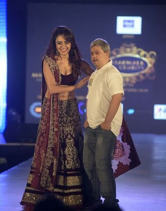 Amruta Khanvilkar in a Fashion Show