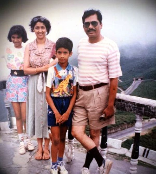 An Old Picture of Neena Kulkarni and Her Family