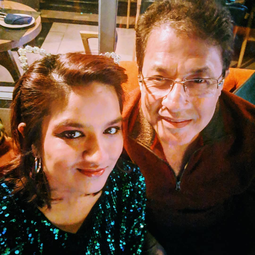 Arun Govil with his daughter