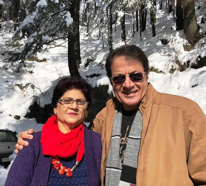 Arun Govil with wife Shrilekha in Shimla, Himachal Pradesh