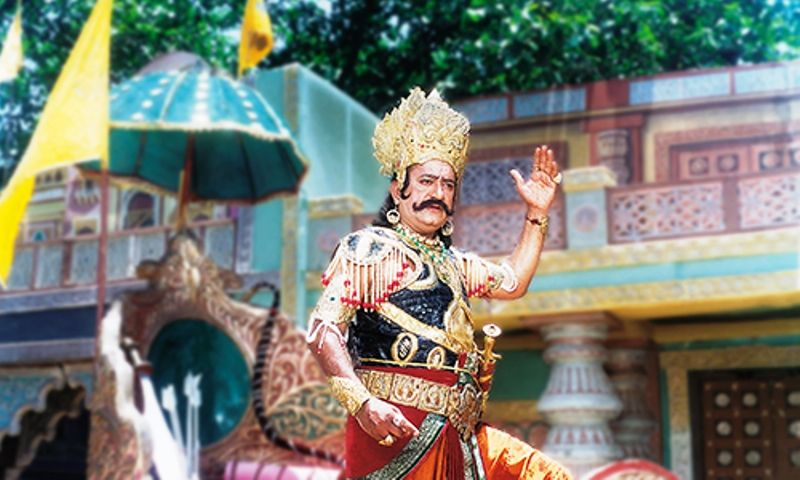 Arvind Trivedi portraying Ravan in Ramayan