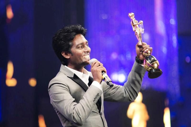 Atlee Kumar With His Award