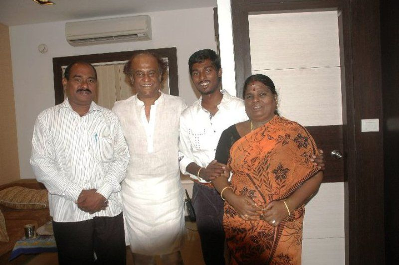 Atlee Kumar With His Parents and Rajinikanth