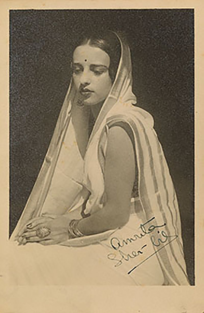 A Picture Autographed by Amrita Sher-Gil