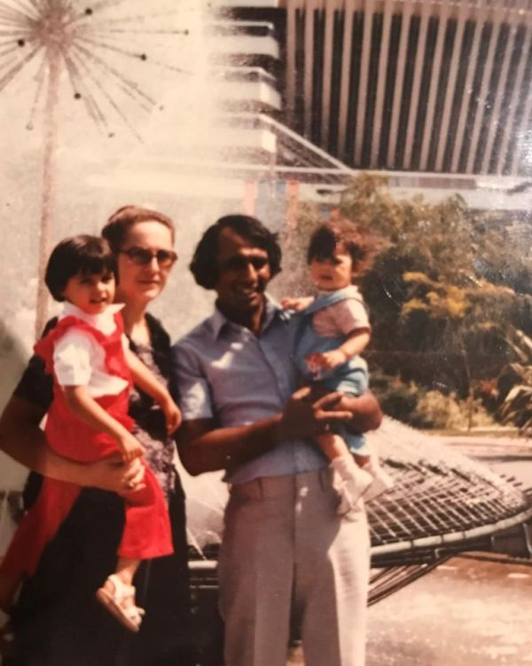 Childhood Picture of Nargis Fakhri with her Family