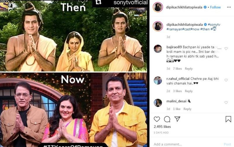 Deepika Chikhalia's Instagram post after appearing in The Kapil Sharma show