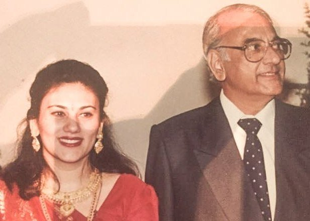Deepika Chikhalia with her father