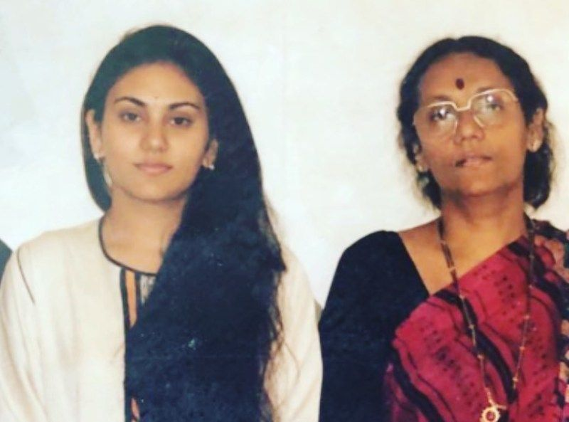 Deepika Chikhalia with her mother