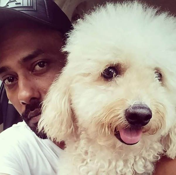 Dharmesh Yelande with his Dog